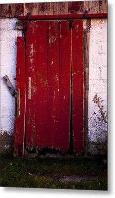 Red Door Metal Print by Cale Best