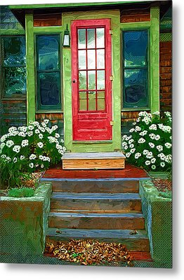 Red Door Metal Print by Susan Lee Giles
