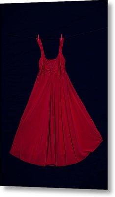 Red Dress Metal Print by Joana Kruse