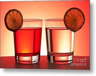 Red Drinks Metal Print