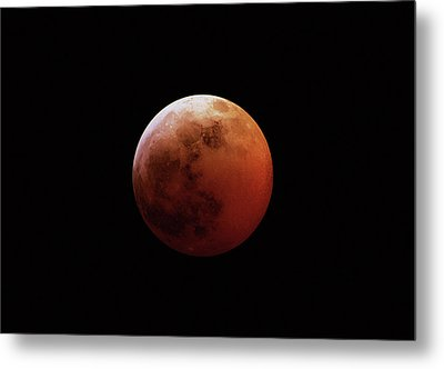 Red Eclipsed Moon Metal Print by Photography By Escobar Studios