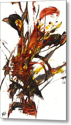 Red Flame II 65.121410 Metal Print by Kris Haas