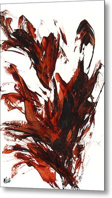 Red Flame IIi 64.121410 Metal Print by Kris Haas