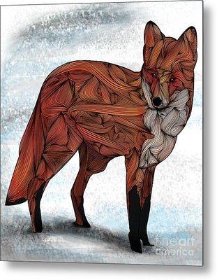 Red Fox Metal Print by Ben Geiger