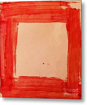 Red Frame   Metal Print by Igor Kislev