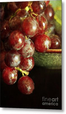Red Grapes Metal Print by Darren Fisher