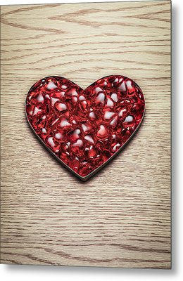 Red Hearts In A Heart Shape Metal Print by Jonathan Kitchen