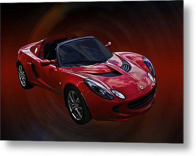 Red Hot Elise Metal Print by Mike  Capone
