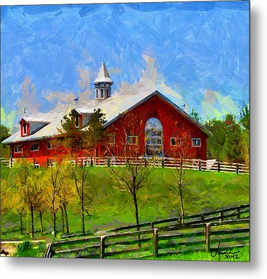 Red House In Caledon Tnm Metal Print by Vincent DiNovici