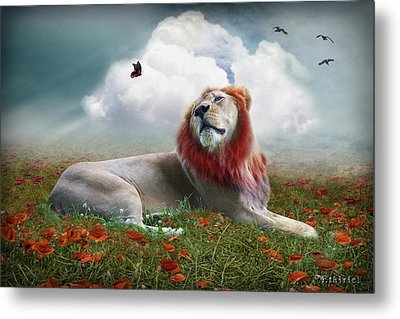 Red Lion Metal Print by Ethiriel  Photography