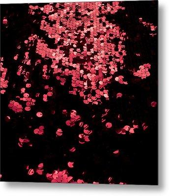Red Metal Rings Metal Print by Gunay Mutlu