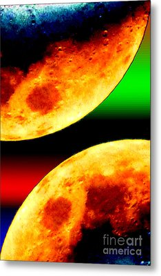 Red Moon Metal Print