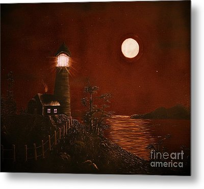 Red Night Metal Print by Barbara Griffin