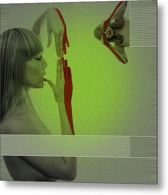 Red Paint Metal Print