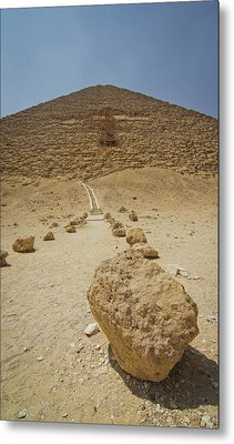 Red Path Of Red Pyramid Metal Print by © Marc Mateos