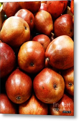 Red Pears Metal Print by Methune Hively