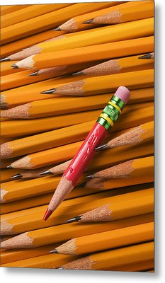 Red Pencil With Yellow Ones Metal Print by Garry Gay