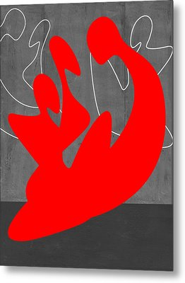 Red People Metal Print