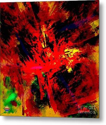 Red Planet Metal Print by Vidka Art