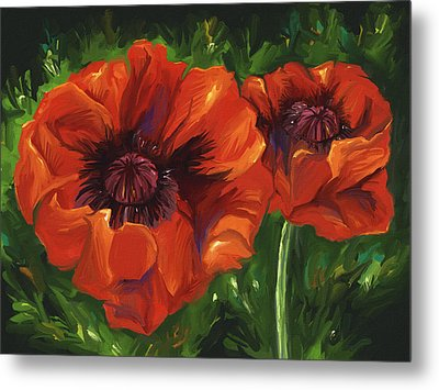 Red Poppies Metal Print by Aaron Rutten