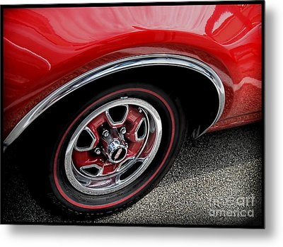 Red Power Of 442 Oldsmobile Metal Print by Alexandra Jordankova