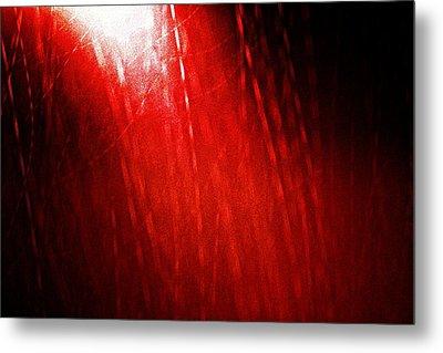 Red Rain 2 Metal Print by Sandro Ramani