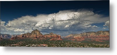Red Rock Storm Metal Print by Scott Faunce
