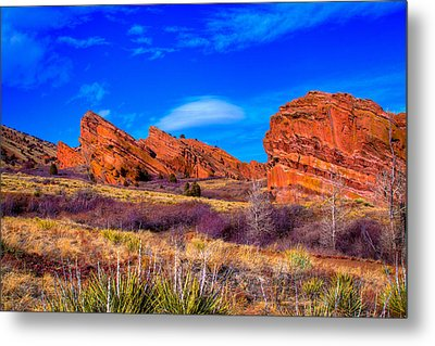 Red Rocks Park Colorado Metal Print by David Patterson