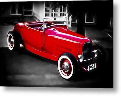 Red Rod Metal Print by Phil 'motography' Clark