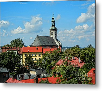 Red Roofed Wonders Metal Print by Mariola Bitner