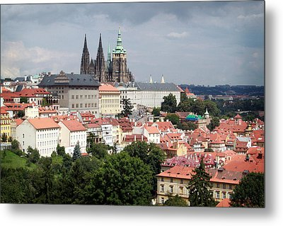 Red Rooftops Of Prague Metal Print by Linda Woods