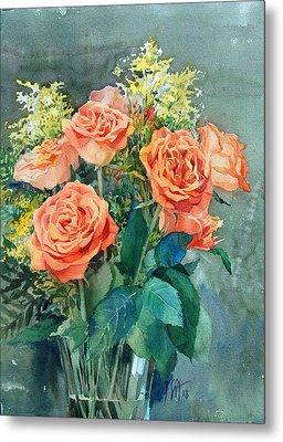 Red Roses Metal Print by Peter Sit