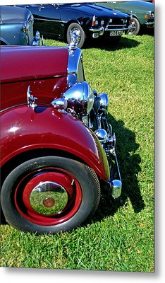 Red Rover Come Over Metal Print by Larry Bishop