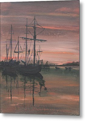 Red Sky At Night Metal Print by Anthony Ross