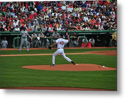 Red Sox Retiree Tim Wakefield Metal Print by Mike Martin
