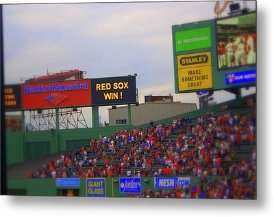 Red Sox Win Metal Print by Greg DeBeck
