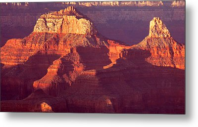Metal Print featuring the photograph Red Stones At Sunset Grand Canyon by Rima Biswas