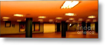 Metal Print featuring the photograph Red Subway by Andy Prendy