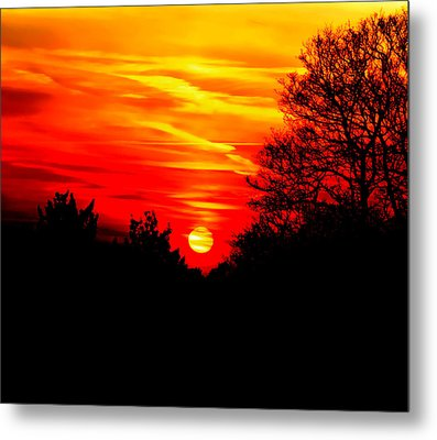 Red Sunset Metal Print by Jasna Buncic