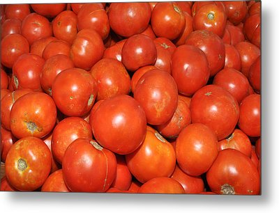 Red Tomatoes Metal Print by Diane Lent