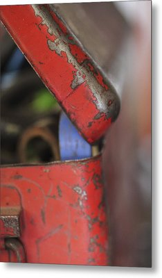 Metal Print featuring the photograph Red Toolbox. by Carole Hinding