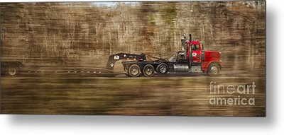 Metal Print featuring the photograph Red Truck In North Carolina by Jim Moore