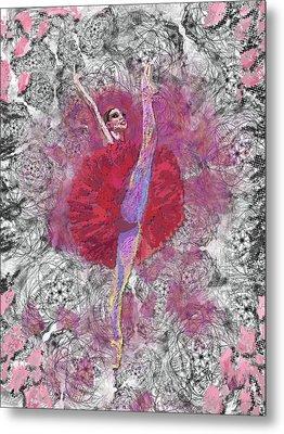 Red Tutu Metal Print by Cynthia Sorensen