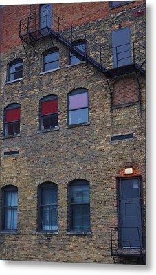 Red Window Metal Print by Todd Sherlock