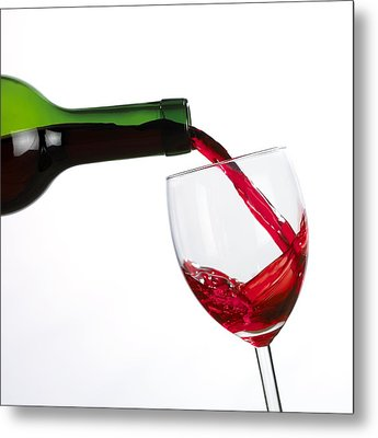 Red Wine Metal Print by Mark Sykes