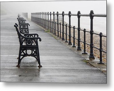 Redcar, North Yorkshire, England Row Of Metal Print by John Short