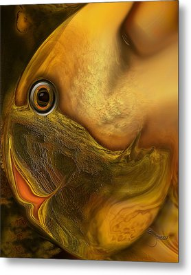 Metal Print featuring the digital art Reef Mistress by Steve Sperry