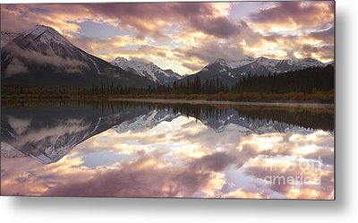 Reflecting Mountains Metal Print