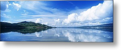 Reflection Of Clouds In Water, Lough Metal Print by The Irish Image Collection
