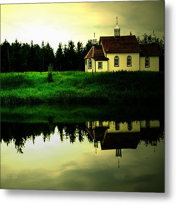 Reflection Of Faith  Metal Print by Empty Wall